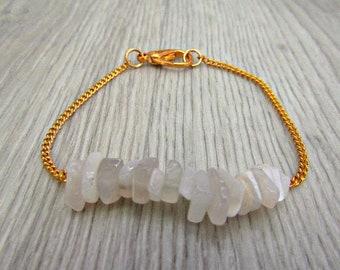 c8df32b7fd1a9 Raw crystal bracelet | Etsy