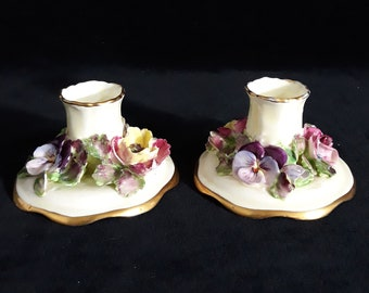 Crown Staffordshire China Candlesticks