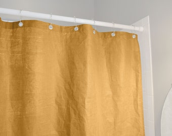 Linen Shower Curtain - Colors Available - Made in USA