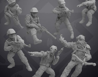 A-A5 crew - Insurgent Armored Transport crew - SKULLFORGE | Legion compatible - 3D printed
