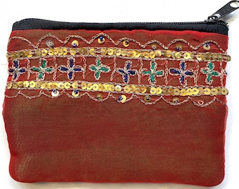 Beautiful Sari Purse. Upcycled from Indian wedding saree. A perfect gift for any occasion