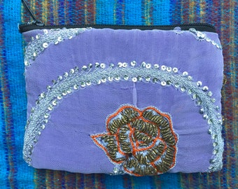 Beautiful Sari Purse. Upcycled from Indian wedding saree. A perfect gift for any occasion. Diwali,