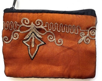 Beautiful Sari Purse. Upcycled from Indian wedding saree. A perfect gift for her