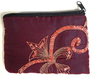 Beautiful Sari Purse. Upcycled from Indian wedding saree. A perfect gift