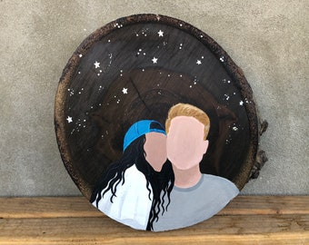 Custom Minimalist Paintings Of You And Your Loved By Emilykayart