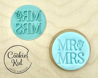 Mr & Mrs Style 1 - Fondant Embosser Stamp