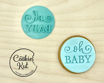 Oh Baby Style 2 - Baby Shower Embosser Stamp