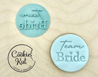 Team Bride - Fondant Embosser Stamp