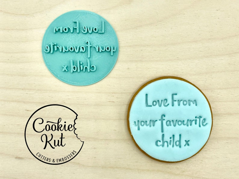 Mother/'s Day Embosser Stamp Love From Your Favourite Child