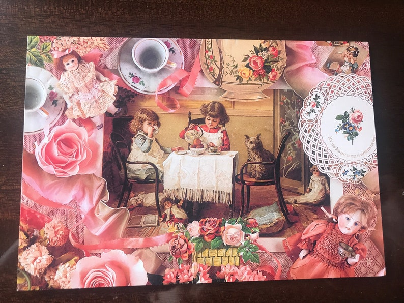 blank inside. 24 Victorian style greeting cards images of children and flowers