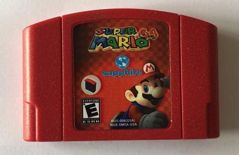 Super Mario Sapphire 64 [N64 Nintendo 64] *USA Seller* [Fast+Free Shipping]
