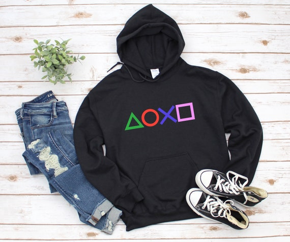 PlayStation Pullover Hoodie Black/White/Grey Options
