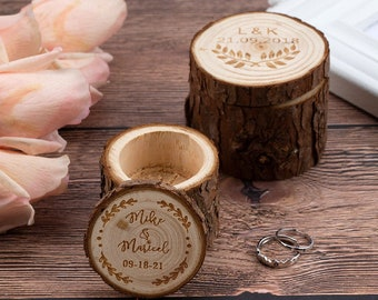 Custom Wedding Ring Box, Wood Engagement Ring Box, Wooden Ring Bearer Box, Personalized Rings Holder, Bridal Shower Gift, Gifts for Bride