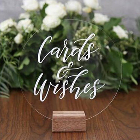 Acrylic Table Numbers with Stands Wedding Table numbers