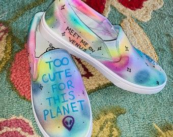 597b111e91 Space Babe Tie Dye Slip-ons