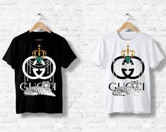 9719f89d808 Gucci T-Shirt men women Fashion Logo white black Designer Paris Milan Italy  Crown Royal Tiger S M L XL XXL