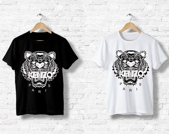 9b52a6512 Kenzo Tiger Tiger black T-Shirt and white man woman Italy Milan Fashion  Paris Logo Designer black white S M L XL XXL