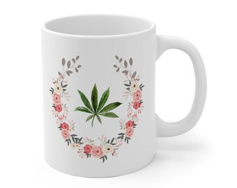 76be3f6c910 Weed mug | Etsy