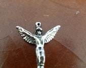 Kachinad doll eagle dancer in sterling silver pendant