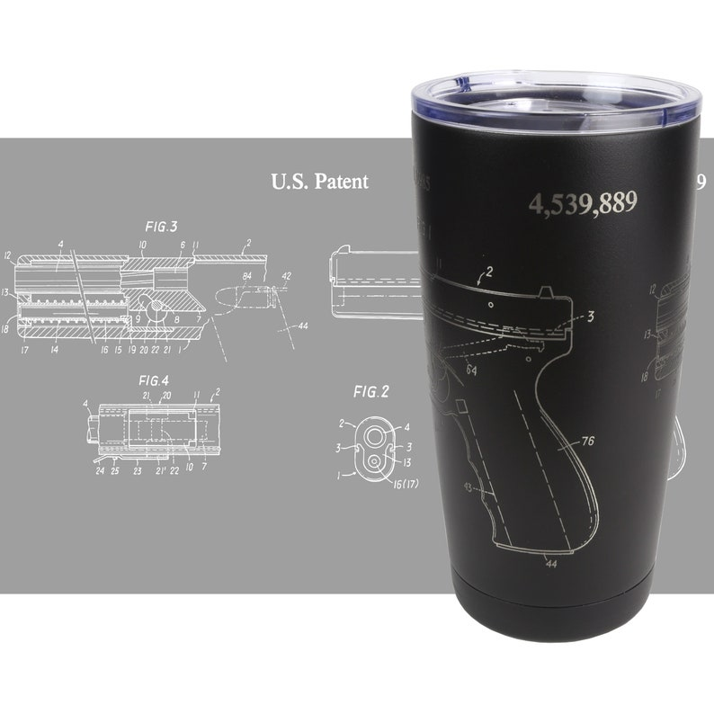 CHRISTMAS GIFT GLOCK TRAVEL MUG VINYL CUSTOM TRAVEL MUG