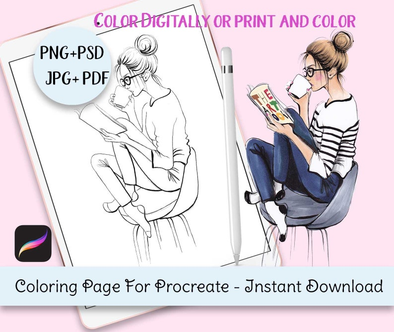 Coloring Page For Procreate Coloring Pages Download ...