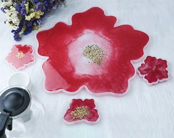 6pc Open Flowers Silicone Mold Sakura mold,Cherry blossoms molds,Resin Mold
