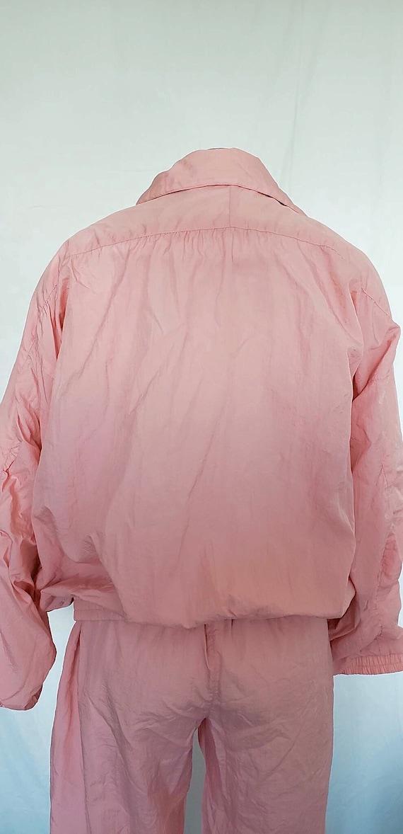 Vintage 1980's Pink Windbreaker Jacket and Pant S… - image 6