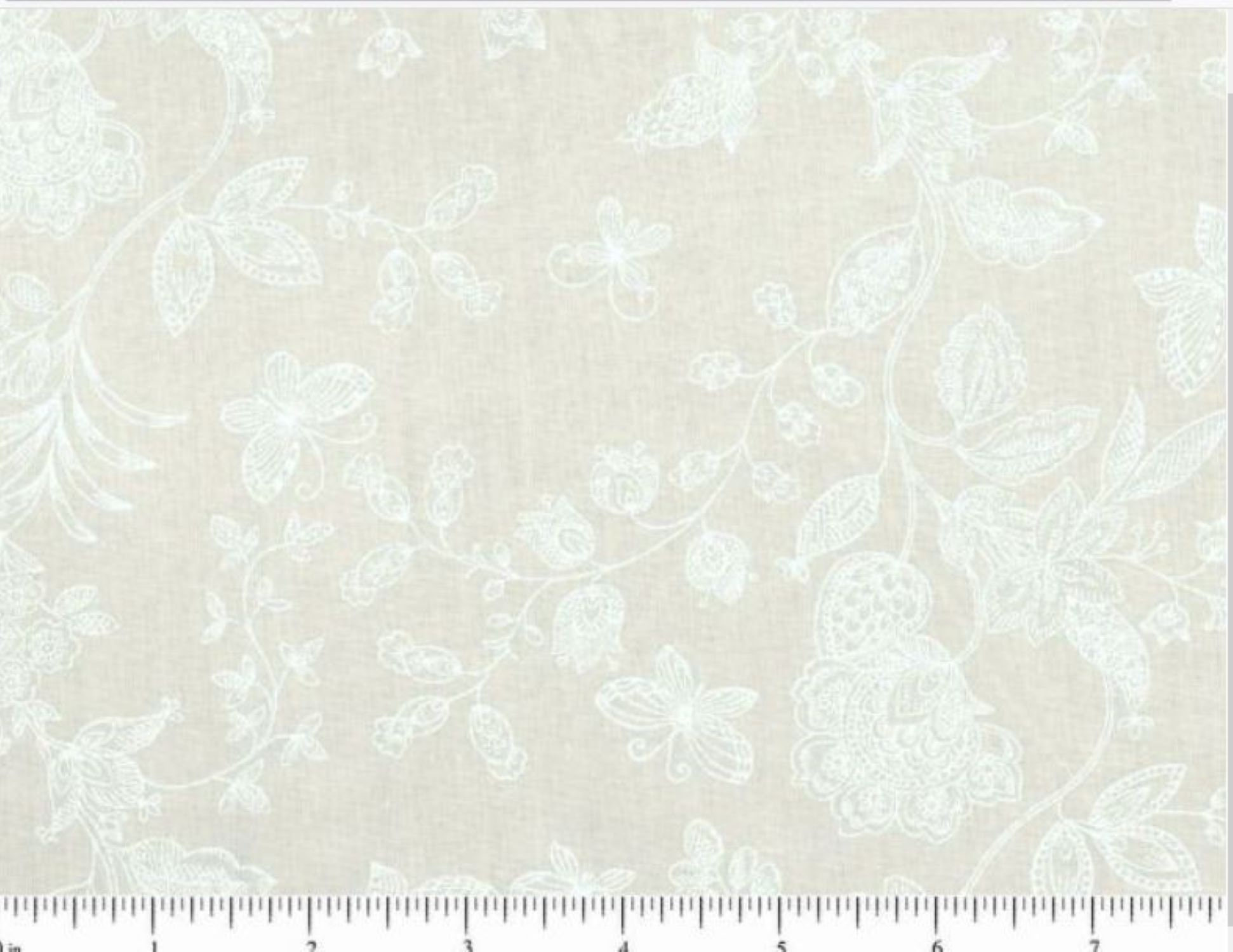 108 Wide Quilt Backing Fabric Subtle Floral Etsy
