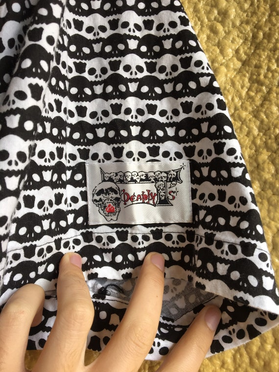 Deadly T's - Skull T Button Up