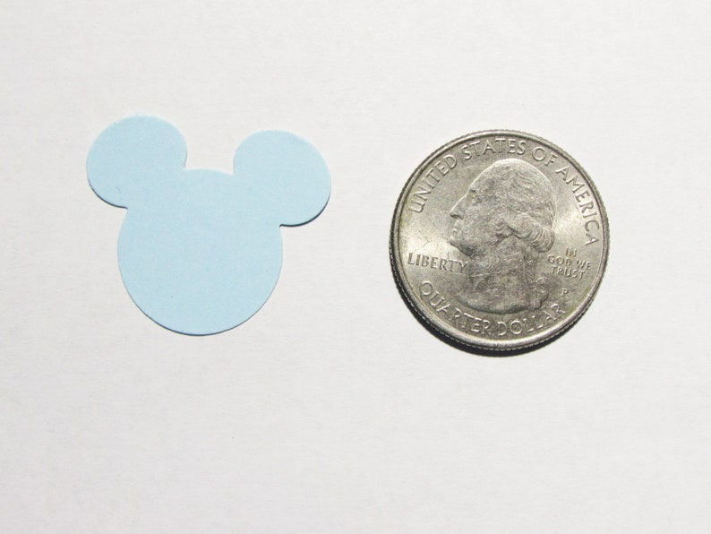 Wedding Birthday Baby Boys. Baby Blue 1 Mickey Mouse 100 CT Party Die Cut Party Decor Anniversary