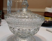 Anchor Hocking Wexford footed candy dish