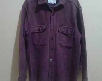 1f2fd000fed Vintage CPO Navy Shirt Heavy Wool Burgundy