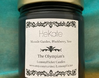 Hekate Scented Soy Ancient Greece Olympian Gods Ambience Candle With FREE Necklace