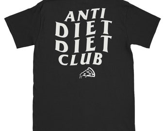b470bb67 Anti Diet Diet Club, ASSC Social Black Shirt, Anti Diet Shirt, Diet Shirt,  Diet Tshirt, Anti Social Social Club, Anti Social Club shirt