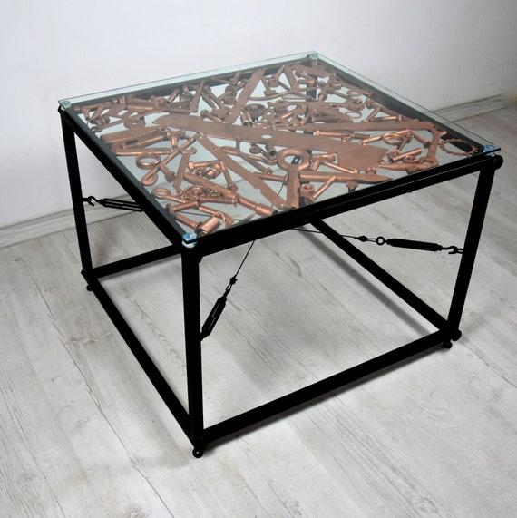 Table Basse En Acier Table De Pieces De Moteur Table Basse Industrielle