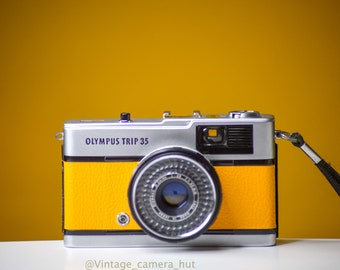 Olympus Trip 35 Vintage Film Camera Yellow