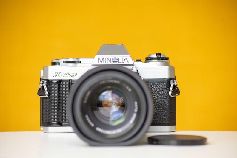 Minolta X-300 Slr Vintage 35mm Film Camera with Vivitar Lens Auto ...
