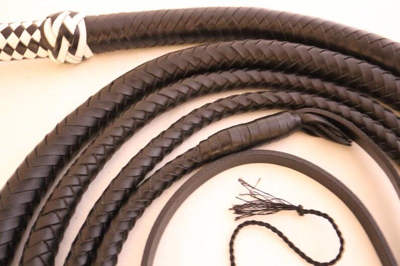 12 plaited heavy duty 10 Ft Bullwhip Genuine leather