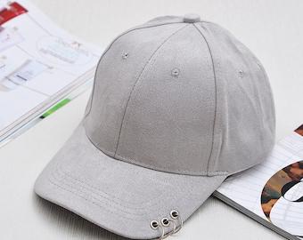 dcfe4dd336a Unisex Ring Snapback Caps Solid Color Baseball Cap Women Men Suede Hip Hop  Hat casquette