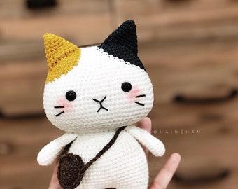 Hainchan - Tira The Little Cat - Amigurumi crochet pattern. Instant download. Languages: English