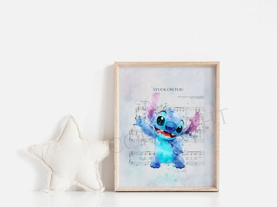 "Stitch Love /""Lilo /& Stitch/"" Wall Art Disney Poster Nursery Room Decor Unframed"
