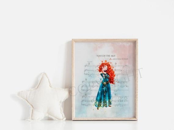 Merida Brave Type 3 Watercolor Baby Poster Nursery Print Disney Art UNFRAMED