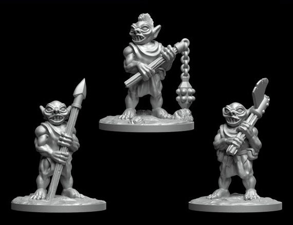 ideal for Dungeons and Dragons and other Tabletop RPGs Gnoll Mangeheart 3D Resin Printed Model