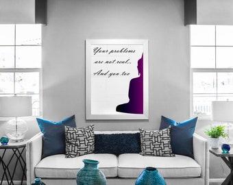 Buddha Poster Print Wall Art Decor Meditation Housewarming Gift Zen Home