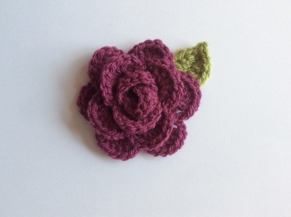 PDF pattern Crochet Rose and leaf crochet rose pattern