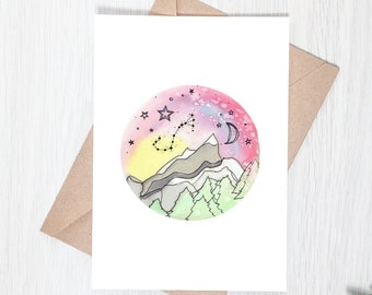Mountain Starscape Greeting Card