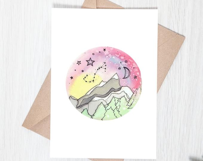 Mountain Starscape Greeting Card