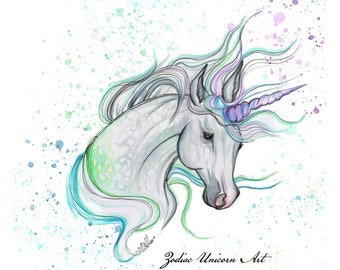 Intuitively Drawn Aura Unicorn, Custom Artwork