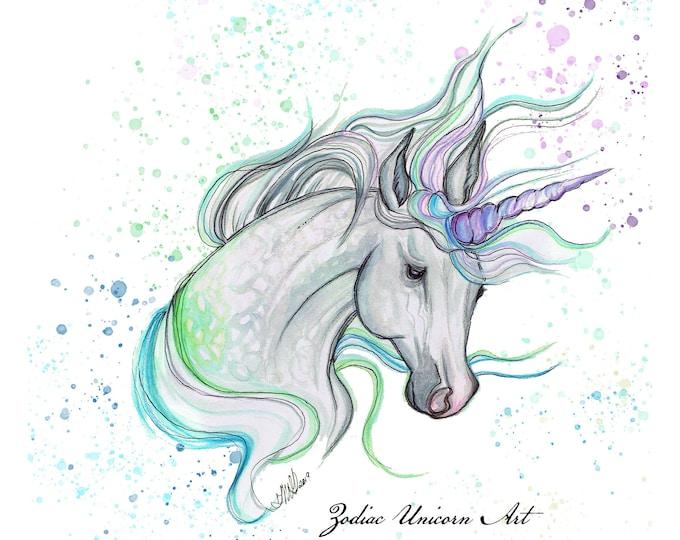 Intuitively Drawn Aura Unicorn, Custom Artwork