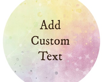 Add Custom Text to Any Zodiac Unicorn Digital Greeting Card